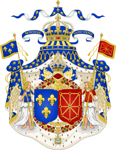 File:1190px-Grand Royal Coat of Arms of France & Navarre svg.png
