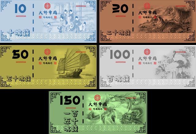 File:Taihanese dollar banknotes.png