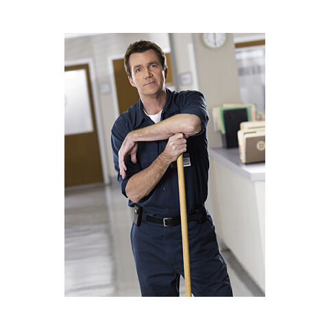 This janitor did his job. Now it's your chance to pick up the glory of the mop.