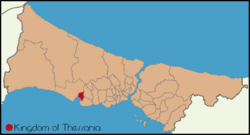 Location of Thessania