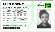 ID card 1 - Carrie Stewart