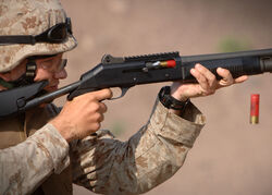 Shotgun in training US military