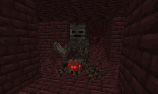 File:A glitch where a Wither Skeleton rides a Spider..png