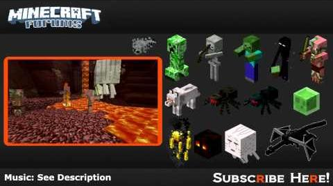 Minecraft Mobs Hostile Mobs ( Hub)