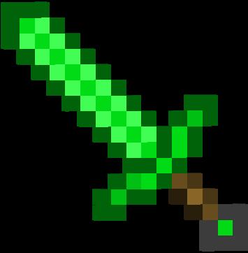 Emerald Sword Planturnips Version Minecraft Fan Ideas