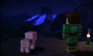 Jesse and Reuben looking out the Witherstorm image