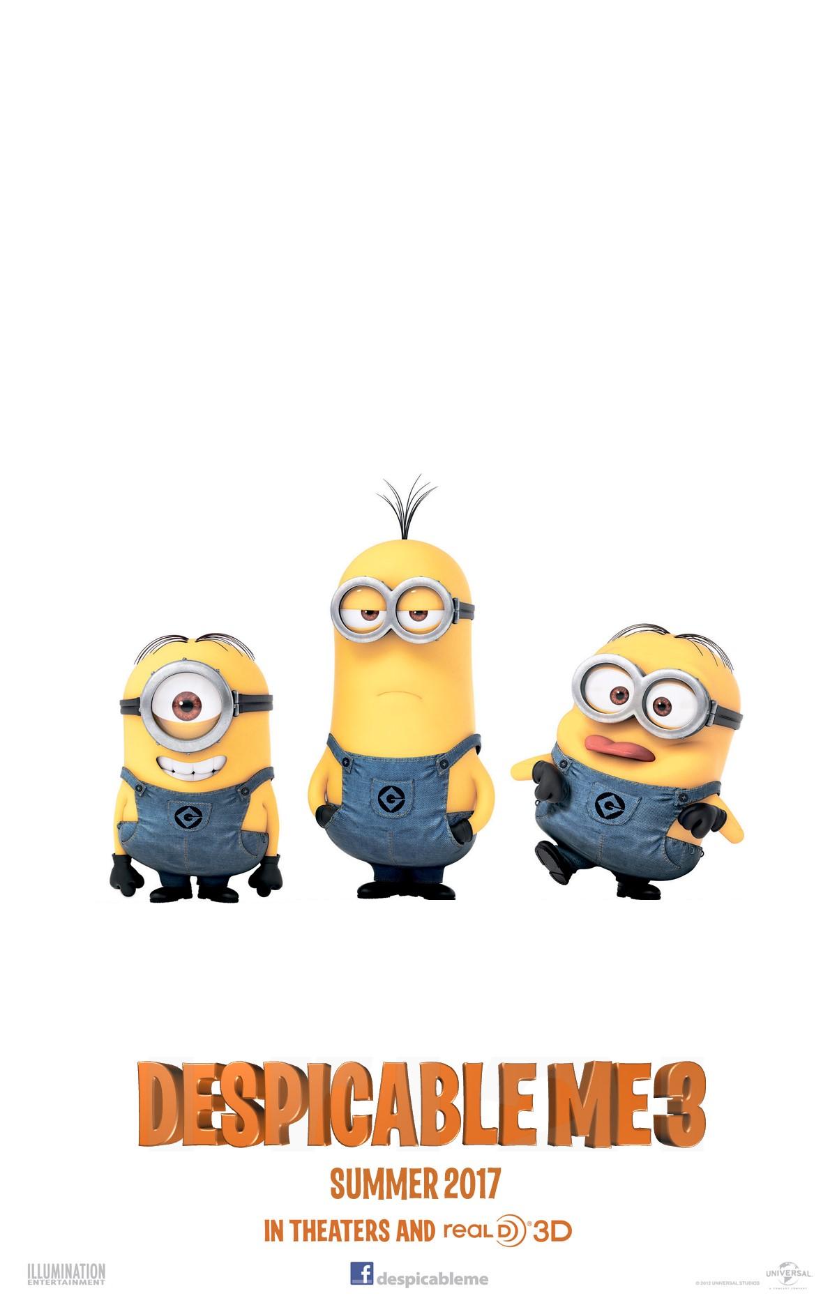 Afbeeldingsresultaat voor despicable me 3 movie poster