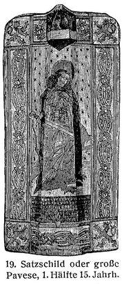 Satzschild Große Pavese 15. Jh. MgKL Rüstungen und Waffen III Fig.19.jpg