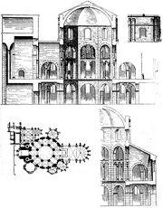 Aachen Pfalzkapelle Rekonstruktion 1887.jpg