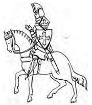 Reiter mit Achselschild 14.Jh. handbuchderwaff00collgoog, Fig.188.jpg