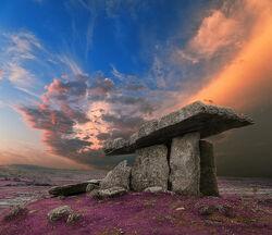 Poulnabrone Dolmen Sunset - Lavender Fantasy.jpg