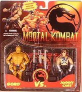 Goro vs. Cage figure carded
