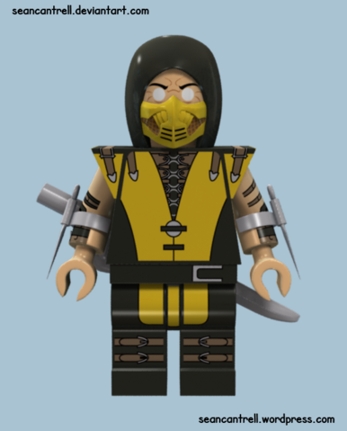 File:Lego scorpion mortal kombat x by seancantrell-d7lknqu.png