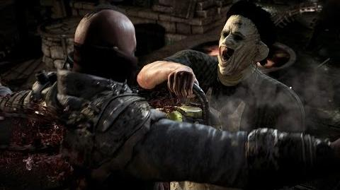 "Mortal Kombat X - Leatherface's ""Seeing Double"" Fatality"