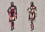Mortal Kombat Deception Mileena Concepts