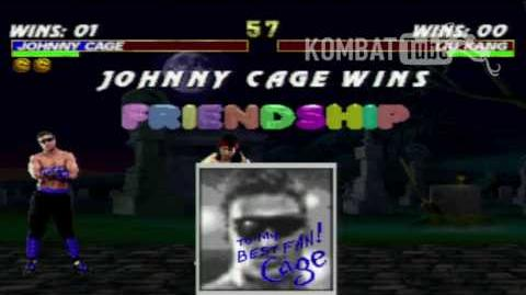 MK III Johnny Cage Friendship