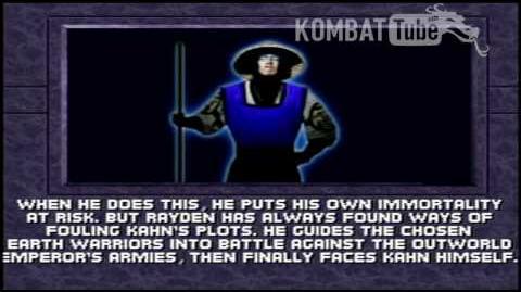 MK III Ending RAIDEN