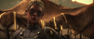Cassie Cage with glasses
