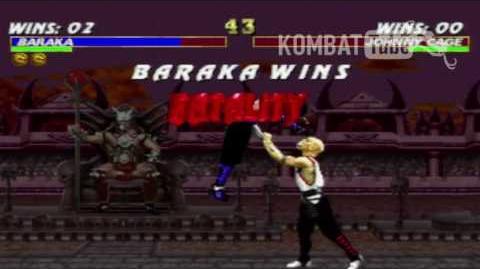 """MK III Baraka """"Impale"""" Fatality"""