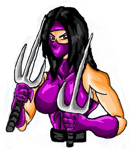 File:Mortal Kombat ll Arcade Art Mileena.png