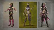 MK Mileena Concept Art 8