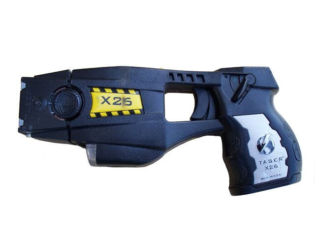 File:Police issue X26 TASER-white.jpg