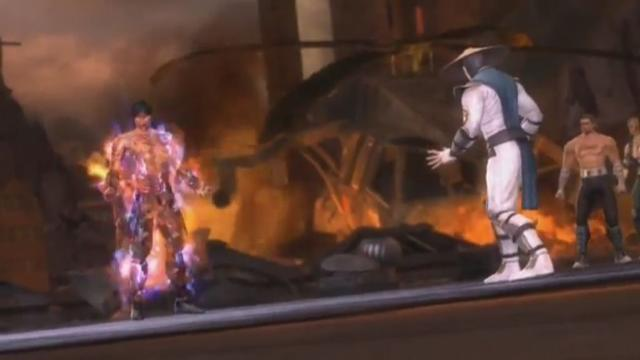 File:Liu Kang gets burned by Raiden's Lightning.jpg