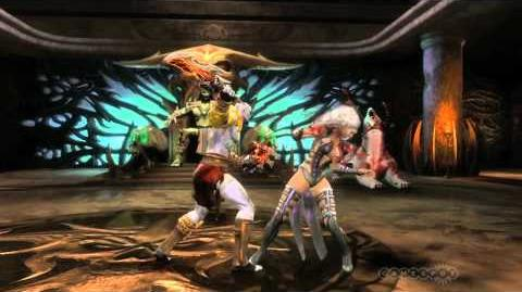 Mortal Kombat Kratos Gameplay Trailer (PS3)