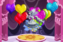 Heart gem balloon pop