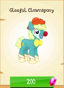Gleeful Clownspony Store Unlocked