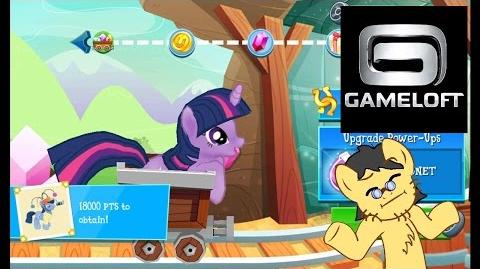 Twilight Sparkle in Minecart. My Little Pony Friendship is Magic (Gameloft) Mini Game