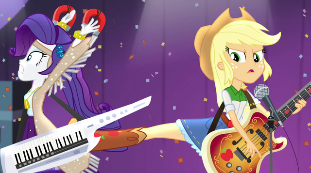 File:Applejack kicks Rarity away from her EG2.png