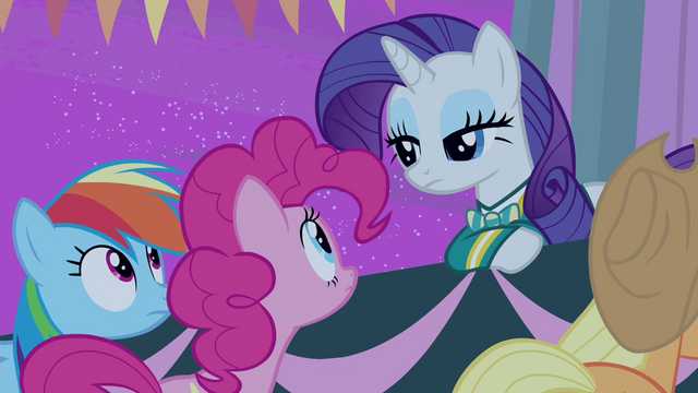 File:Rarity looking at Pinkie S4E14.png