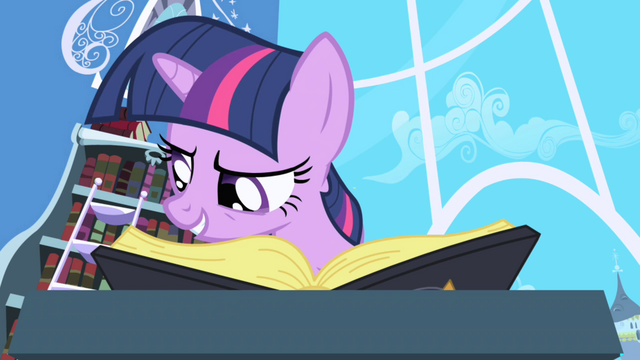 "File:Twilight reading ""Elements of Harmony"" passage S1E01.png"