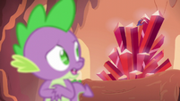 Spike looks back at the scepter S6E5