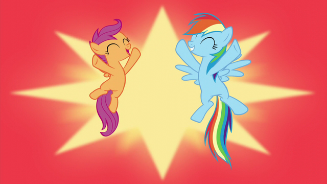 File:Scootaloo and Rainbow Dash excited S5E17.png