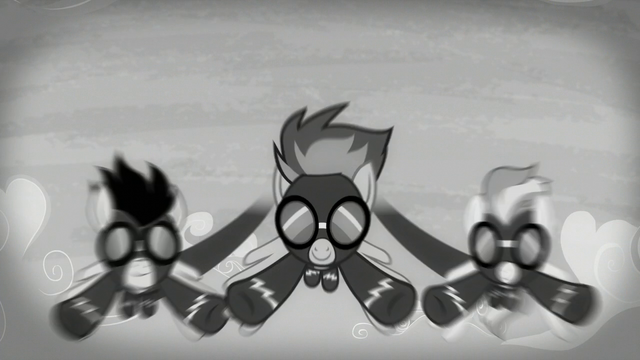 File:The Wonderbolts flying as the screen is black-and-white S5E15.png