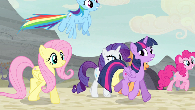 File:Mane Six enter the village again S5E2.png