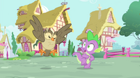 Owlowiscious hooting angrily at Spike S4E23