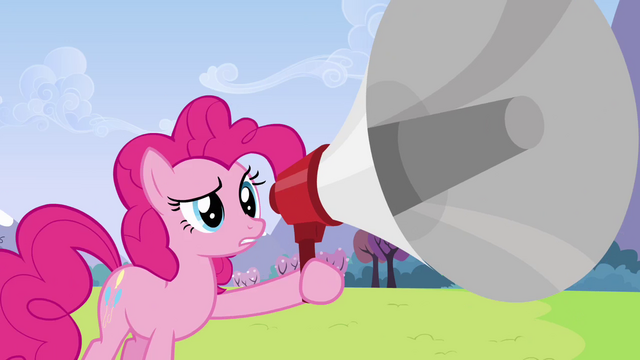 File:Pinkie Pie after shouting in megaphone S3E7.png