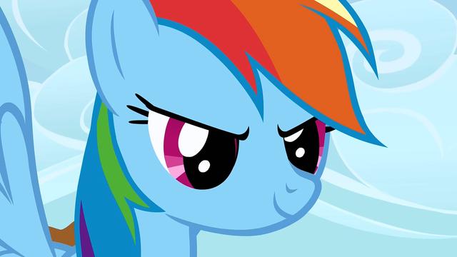 File:Rainbow challenges Applejack S1E13.png