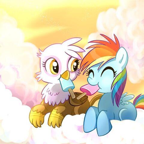 File:FANMADE Gilda Rainbow Dash Filly.jpg