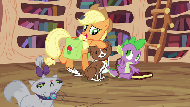 File:Applejack and happy Winona S03E11.png