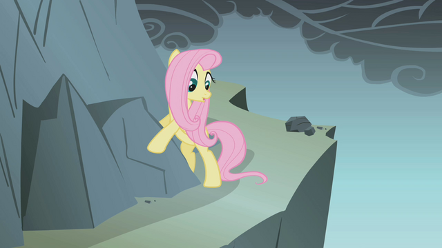 File:Fluttershy looks at the cliff S1E07.png