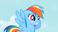 Rainbow Dash blush S2E8