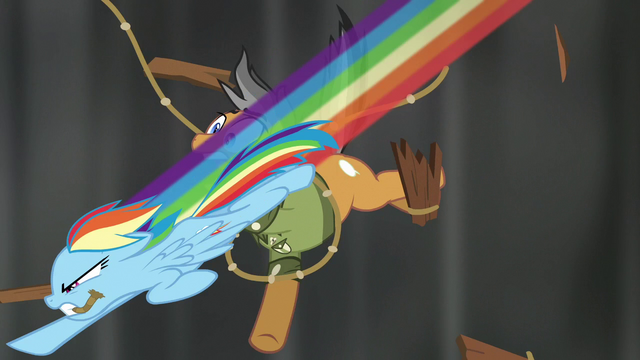 File:Rainbow swooping past Quibble with rope S6E13.png