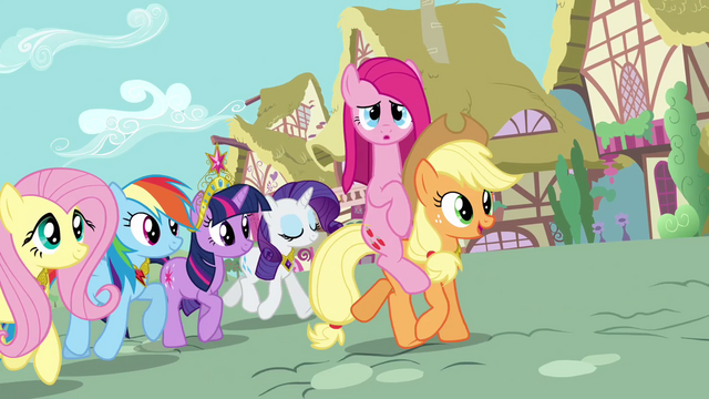 File:Pinkie Pie riding on Applejack's back S03E13.png