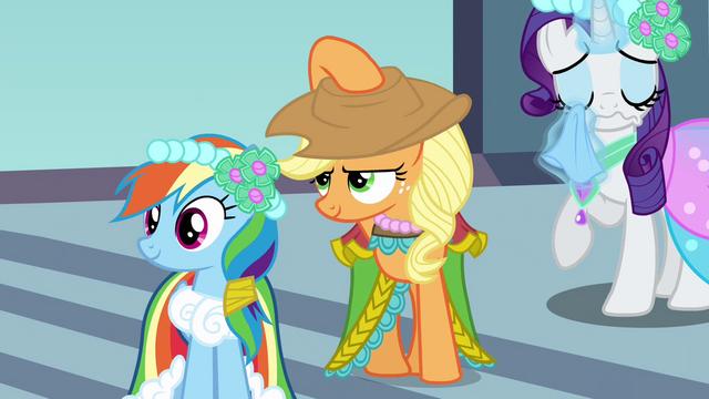 File:Applejack putting hat on S2E26.png