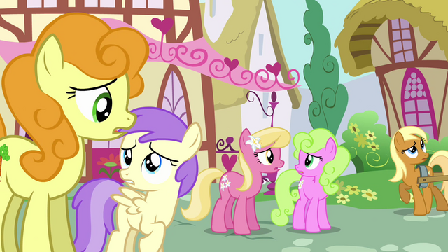 "File:Confused background ponies ""toupee?"" S02E18.png"