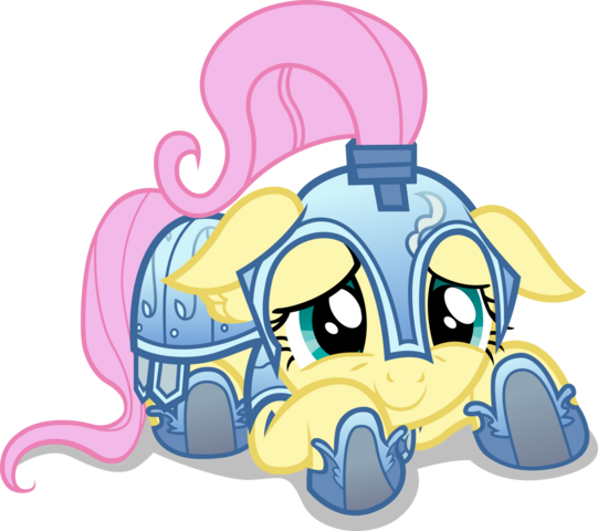 File:FANMADE cowering knight Fluttershy by dharthez.png